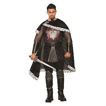 Mens Evil King Fancy Dress Costume (Standard)