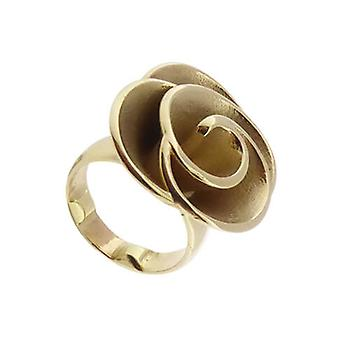 Yellow gold ring flower model