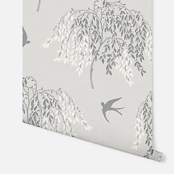 664700 - Willow Song Grey - Arthouse Wallpaper
