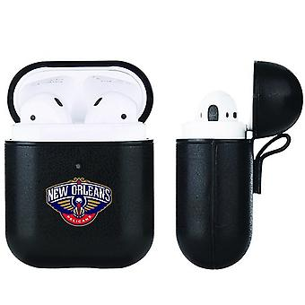 New Orleans Pelicans NBA Fan Brander Zwart lederen AirPod Case