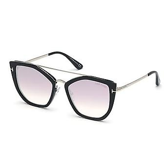 Tom Ford Dahlia-02 TF648 01Z Gafas de sol Shiny Black/Violet Gradient Mirror