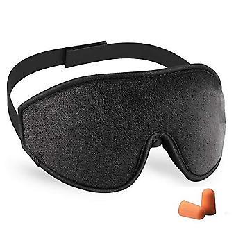 Maska do spania 3D - czarna