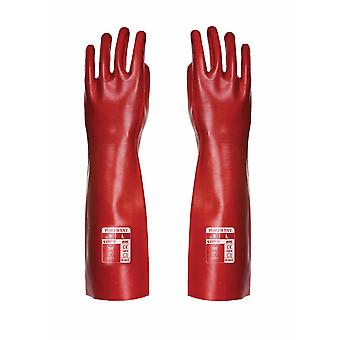 sUw-Aqua grip PVC kryty vysoká predlaktia rukavicu (1 pár Pack)
