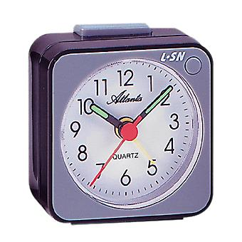 Atlanta 1230/4 Alarm Clock Quartz Analog Grey Black with Light Snooze