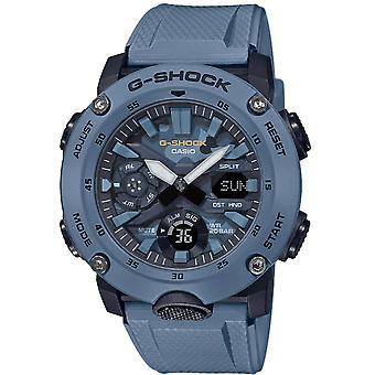 Casio G Shock Street Utility Digitale Blu Quadrante Blu Resin Strap Uomini's Guarda GA-2000SU-2AER Uomini's Orologio