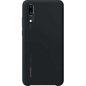 Silicon Case Hoesje Huawei P20 - Zwart