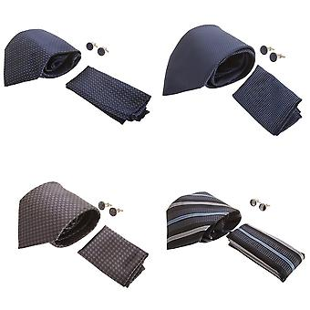 Pierre Roche Mens Tie, Handkerchief And Cufflink Set