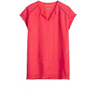 Sandwich Clothing Coral Linen Front Tunic