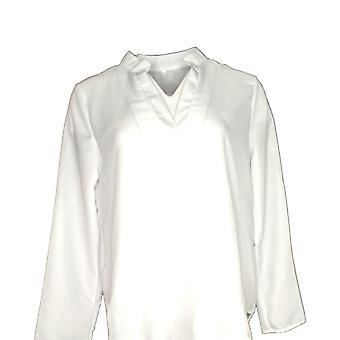 Sample Women's Top Roll Tab Long Sleeve Blouse White