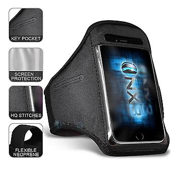 Apple iPhone XR XXLarge Black Sports Armband Waterproof Fitness Phone Case