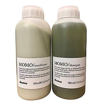 Davines Momo Moisturizing Shampoo & Conditioner Set Dry & Dehydrated 33.8 OZ