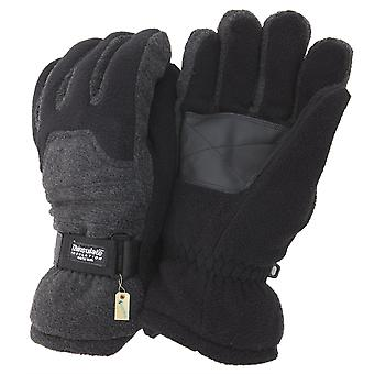 FLOSO Mens Heavy Ski Thinsulate Thermal Fleece Gloves With Palm Grip (3M 40g)