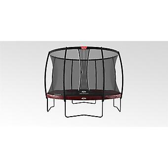berg elite regular trampoline 430 14ft red + safety net dlx xl