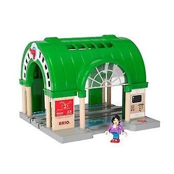 BRIO mundo Estação Central 33649 com ATM e som para conjunto de trem de madeira