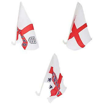 England St George Car Flag (Pack Of 2)
