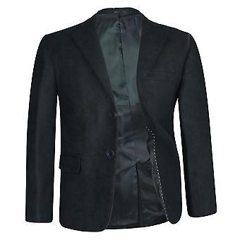 Boys Faux Suede Black  Jacket / Blazer
