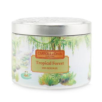 Carroll & Chan 100% Beeswax Tin Candle - Tropical Forest (8x6) cm
