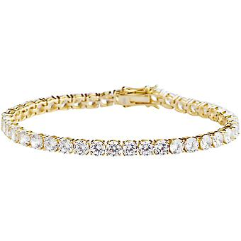 Premium Bling 925 sterling silverarmband - TENNIS 5mm guld