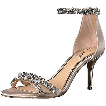 BADGLEY MISCHKA Womens Caroline Fabric Open Toe Special Occasion Ankle Strap ...