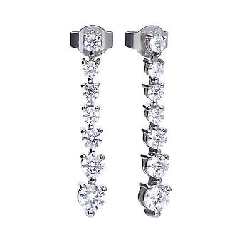 Diamonfire E5599 Silver Classic Drop Earrings