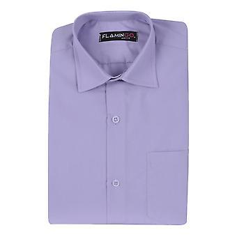 Boys Cotton Formal Lilac Camicia