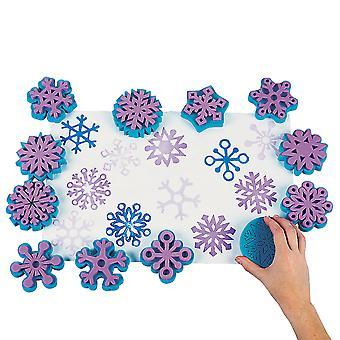 Snefnug Skum Paint Frimærker for Kids Maleri | Svamp maling frimærker