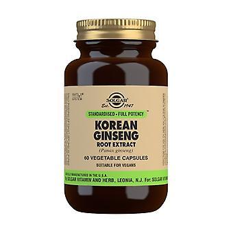 Korean Ginseng 60 vegetable capsules