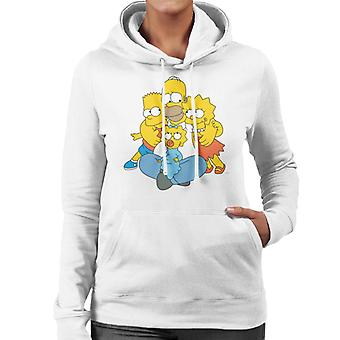 The Simpsons All Eyes On You Sudadera con capucha para mujer