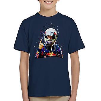 Motorsport kuvia Sebastian Vettel Interlagos 2013 Kid ' s T-paita