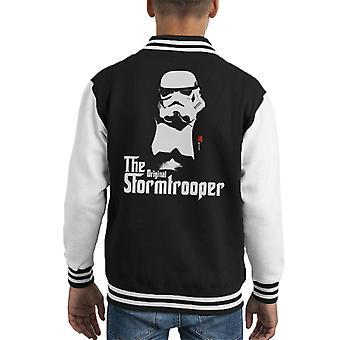 Original Stormtrooper Mafia Film Parody Kid's Varsity Jacket