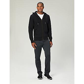 Peak Velocity Men's Heavyweight Fleece Full-Zip Athletic-Fit Hoodie, noir, S...