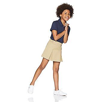 Essentials Big Girls' Uniform Skort, Khaki, M (8)