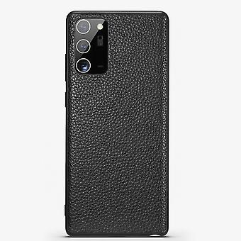 Pour Samsung Galaxy Note 20 Ultra Case Véritable Cuir Protection Cover Noir