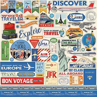 Carta Bella Passport 12x12 Inch Element Sticker