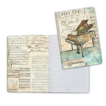 Notebook A5 Piano de musique (ENBA5012)