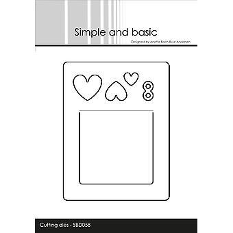 Enkel och grundläggande bokmärke / Gift Tag Dies