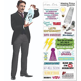 Stationery - Tesla - Card and Sticker Sheet New 3658