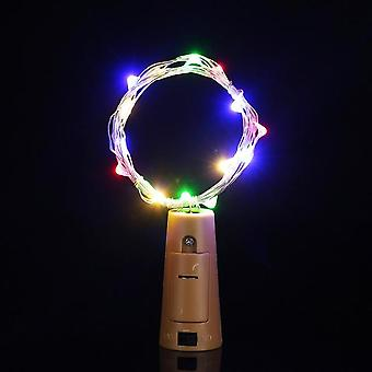 1m 2m 3m Copper Wire Led String Lights For Christmas Decorations  Home Garland Bottle Stopper For Glass Craft