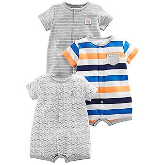 Simple Joys by Carter's Baby Boys' 3-Pack Snap-up Rompers, Stripe, Whale, Tig...