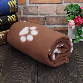 Soft Cute Dog Blanket Winter Warm Cat Dog Bed Mat Print Sleeping Mattress Small