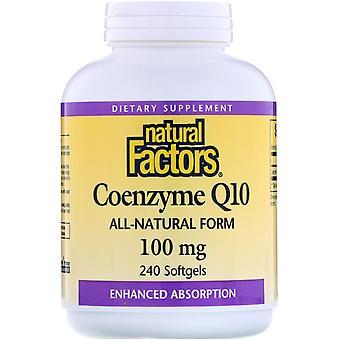 Natural Factors, Coenzyme Q10, 100 mg, 240 Softgels