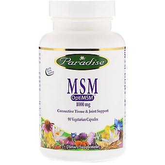Paradise Herbs, MSM, 1,000 mg, 90 Vegetarian Capsules