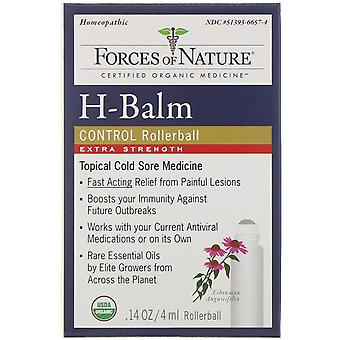 Forces of Nature, H-Balm Control, Rollerball, Extra Strength, 0.14 oz (4 ml)
