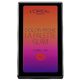 3 x L'Oreal Paris Color Riche Lip Palette 6 Shades Sealed - Summer Glam