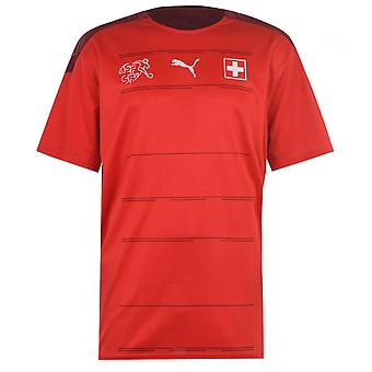 Puma Mens Zwitserland Home Shirt 2020 Voetbalcrew Neck Short Sleeve dryCELL