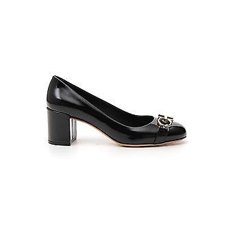 Salvatore Ferragamo 01n765693658 Women's Black Leather Pumps