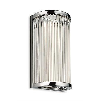 Ensimmäisen valon jalokivi - Integroitu LED-kylpyhuone Flush Seinävalo Kromi kirkas lasi sauvat IP44