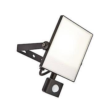 Integreret LED PIR 1 Lys Udendørs Væg Lys Tekstureret Sort, Matteret IP44