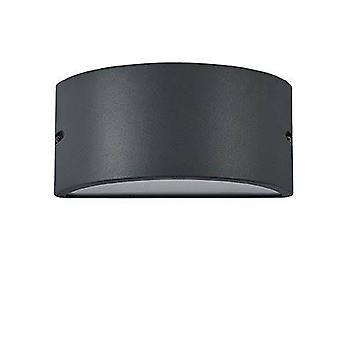 Ideal Lux Rex-2 - 1 luz al aire libre arriba luz de pared antracita IP44, E27