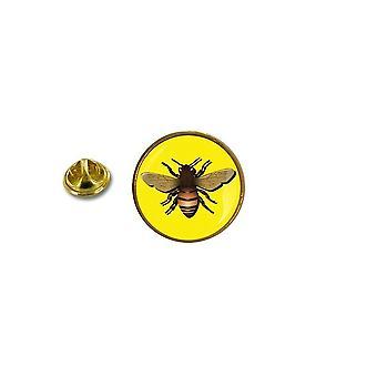 pino pino pino insignia pin-apos;s metal con abrazaderas de mariposa de abeja ref2